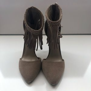 Steve Madden Taupe Faux Suede Heels
